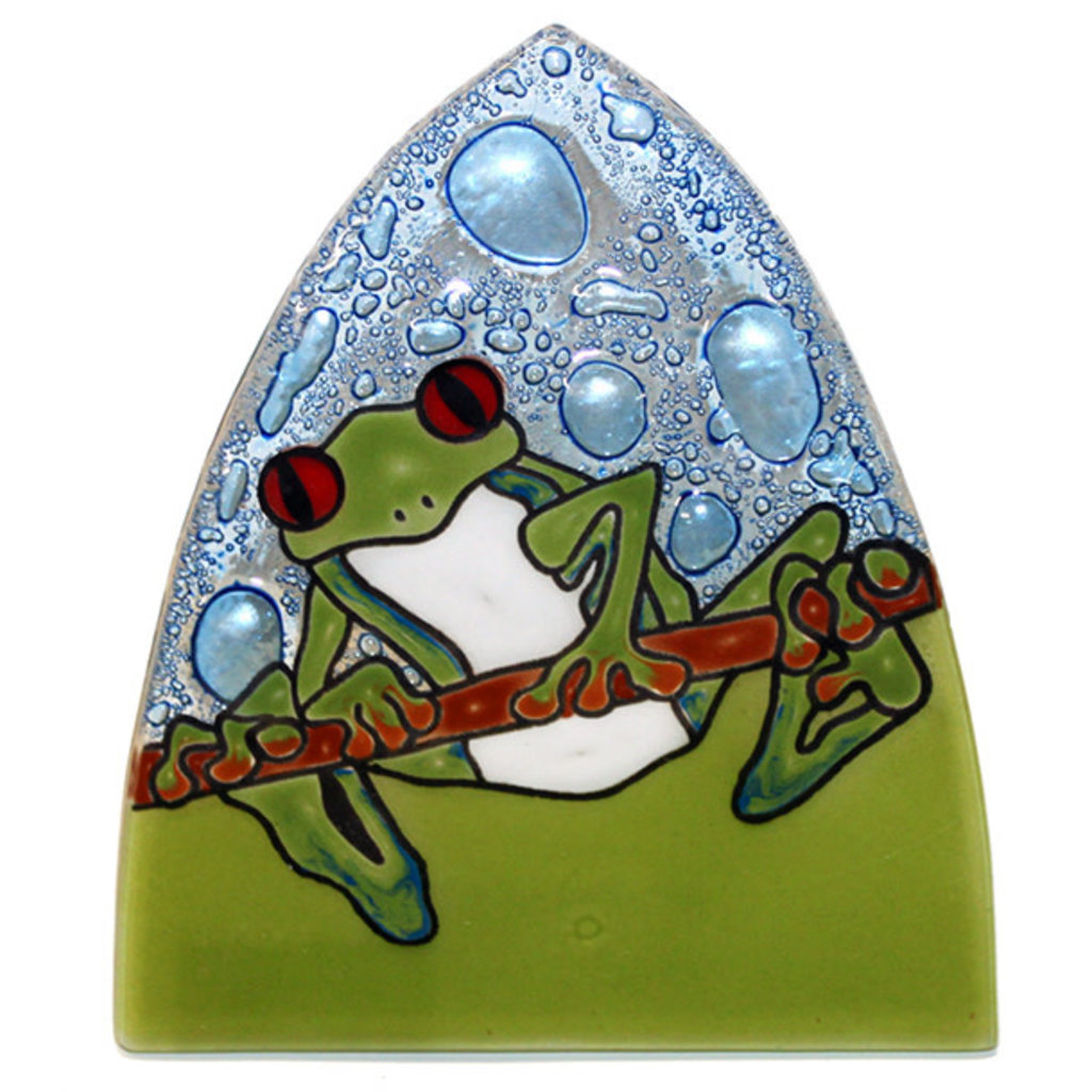 PamPeana Frog Fused Glass Night Light
