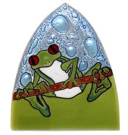 PamPeana Frog Fused Glass Night Light