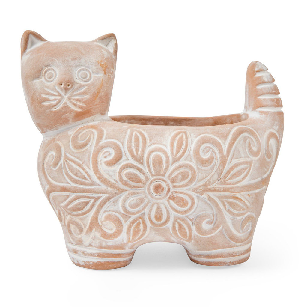 Ten Thousand Villages Garden Kitty Large Planter