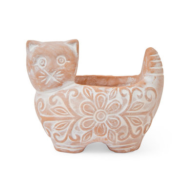 Ten Thousand Villages Garden Kitty Small Planter