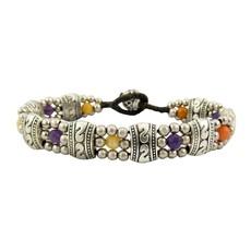 Unique Batik Gemstone Flower Bracelet