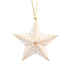 Ten Thousand Villages Gold and White Paper Star Ornament
