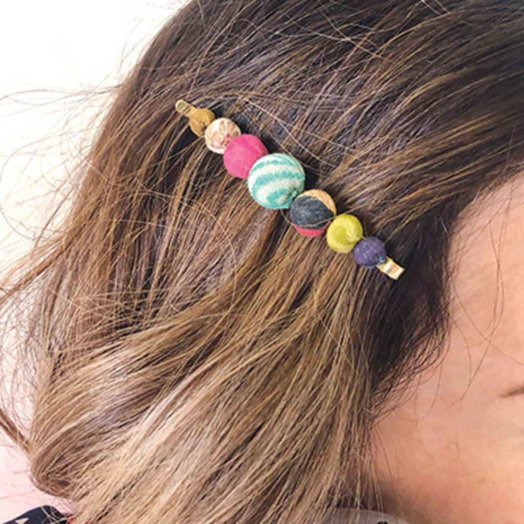World Finds Graduated Kantha Hair Pins