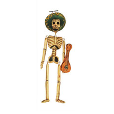 Inter-American Trading Hanging Skeleton Ornament - Extra Small