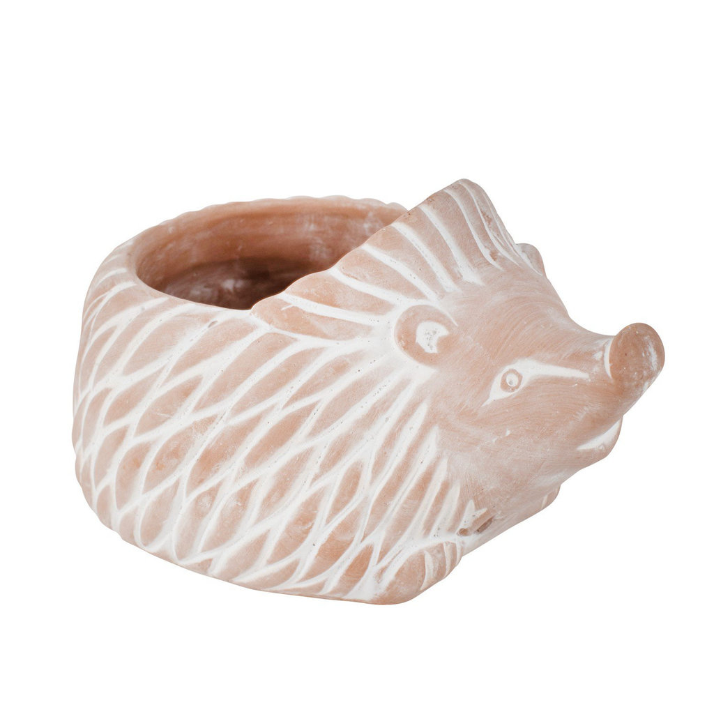 Ten Thousand Villages Hedgehog Terra Cotta Planter