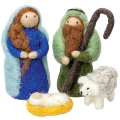 DZI Handmade Holy Night Felt Nativity