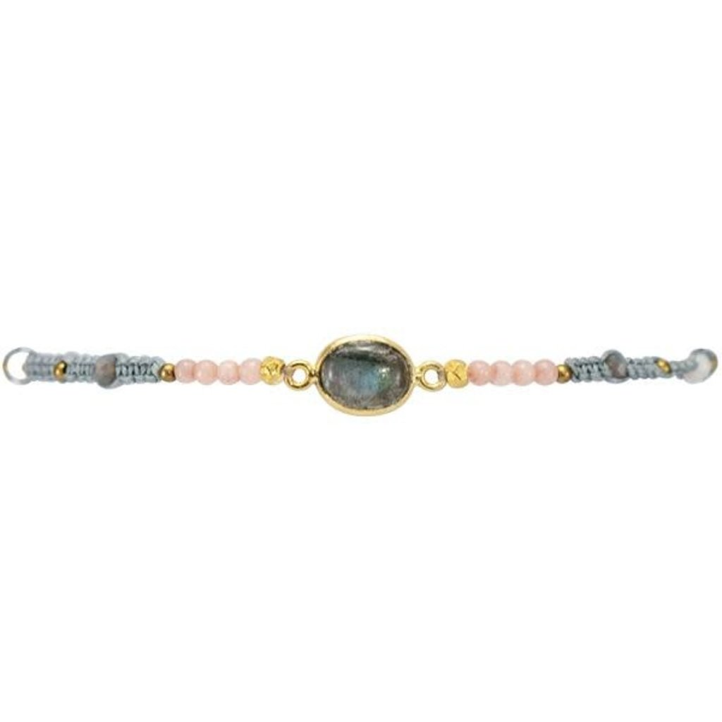 Marquet Fair Trade Jess Winter Mist Sliding Knot Bracelet