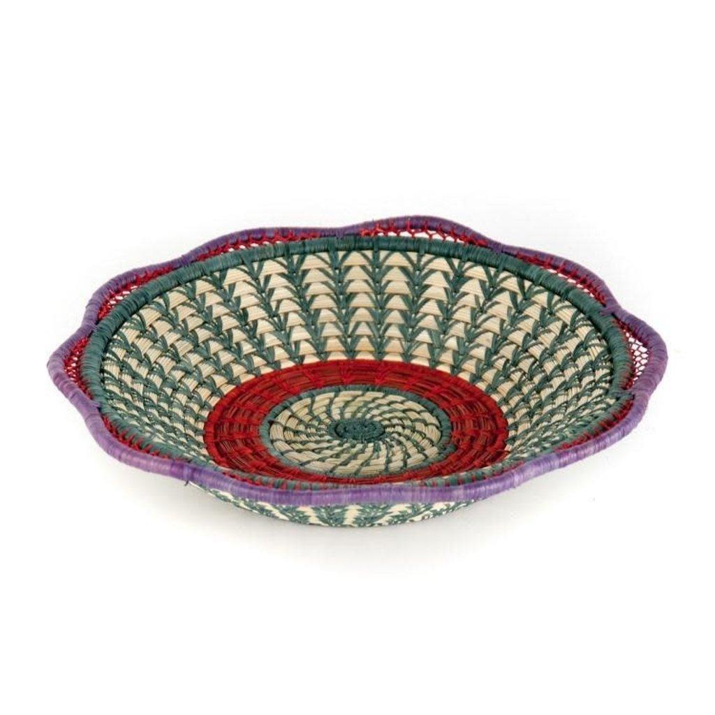 Mayan Hands Josefina Pine Needle and Wild Grass Basket