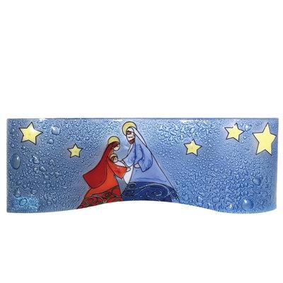 PamPeana Joseph Wavy Fused Glass Nativity