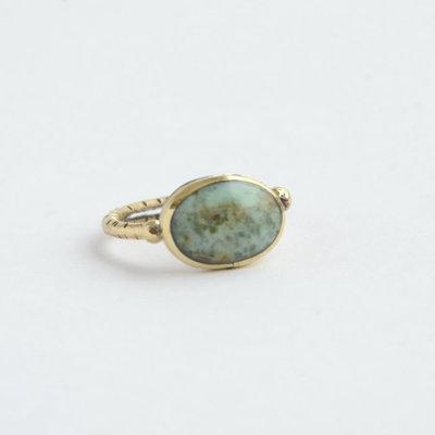Fair Anita Julieta Green Chalcedony Ring