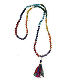 World Finds Kantha Chakra Tassel Necklace