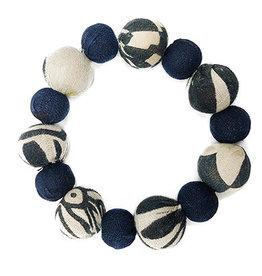 World Finds Kantha Indigo Bauble Bracelet