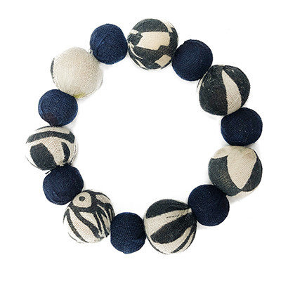 World Finds Kantha Indigo Bauble Bracelet