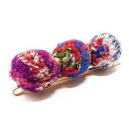 World Finds Kantha Pom Pom Hair Pin