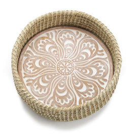 Serrv Kolka Round Bread Warmer Basket