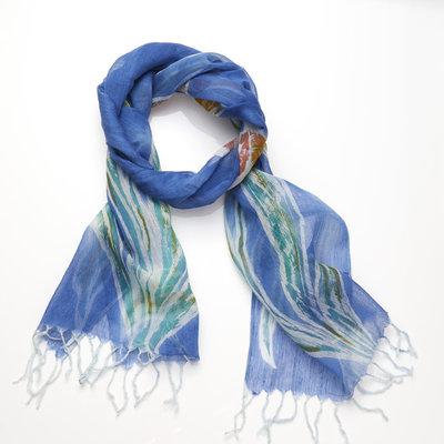 Serrv Lapis Floral Cotton & Silk Scarf