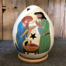 Women of the Cloud Forest Large Nativity Luminary with Three Figures