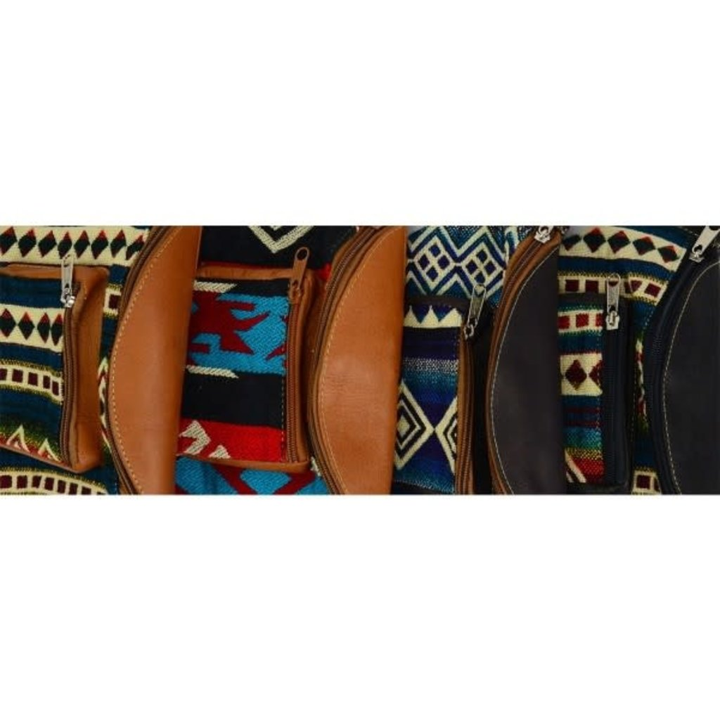 Minga Imports Leather Fanny Pack