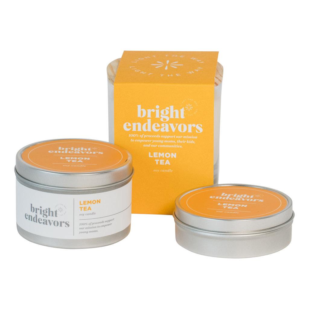 Bright Endeavors Lemon Tea Candle 4oz Tin