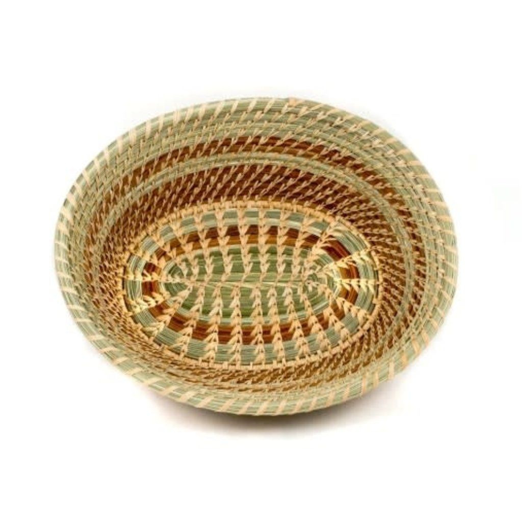 Mayan Hands Lidia Pine Needle and Wild Grass Basket