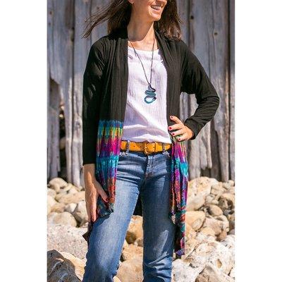Unique Batik Long Tie Dye Jacket: Rainbow