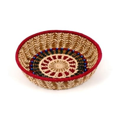 Mayan Hands Lorena Pine Needle and Wild Grass Basket
