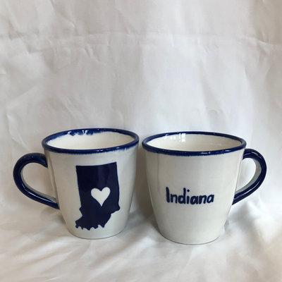 Lucia's Imports Love Indiana State Ceramic Mug