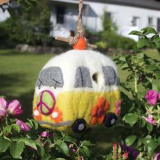 DZI Handmade Magic Bus Wool Felt Birdhouse