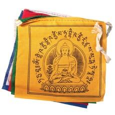 DZI Handmade Medicine Buddha Prayer Flag 5ft.