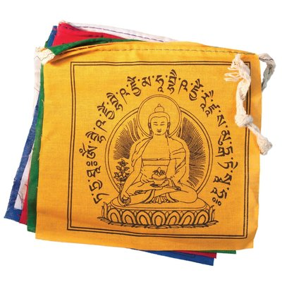 DZI Handmade Medicine Buddha Prayer Flag 5ft.