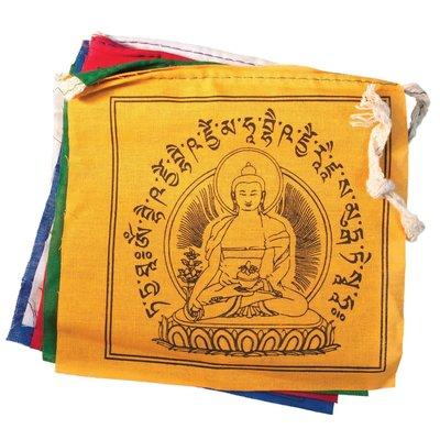 DZI Handmade Medicine Buddha Prayer Flag 5ft