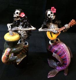Inter-American Trading Mermaid Skeleton Calaca Day of the Dead