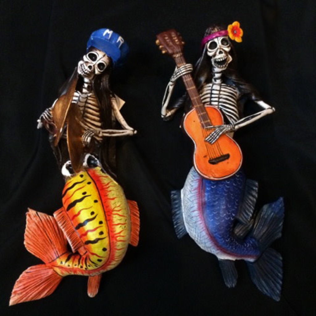 Inter-American Trading Mermaid Skeleton Calaca Day of the Dead