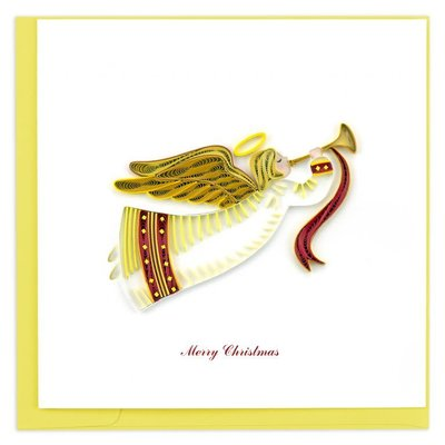 Quilling Card Merry Christmas Angel Quilling Card