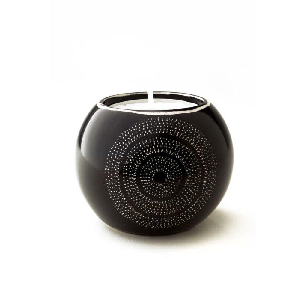 Swahili Imports Stargazer Soapstone Tea Light Candleholder