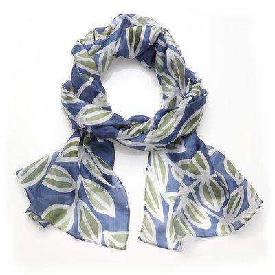 Serrv Silk Leaf Batik Scarf