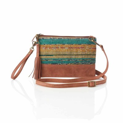 Serrv Sari Sunset Crossbody Wristlet