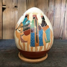 Women of the Cloud Forest Mini Nativity Luminary with Three Kings on Camels