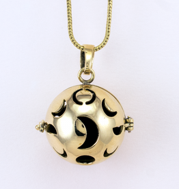 DZI Handmade Moon Phase Diffuser Necklace