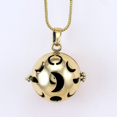 DZI Handmade Moon Phase Diffuser Necklace