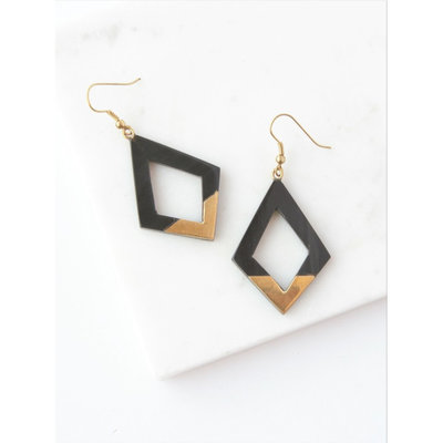 Fair Anita Mountain Peak Horn Earrings