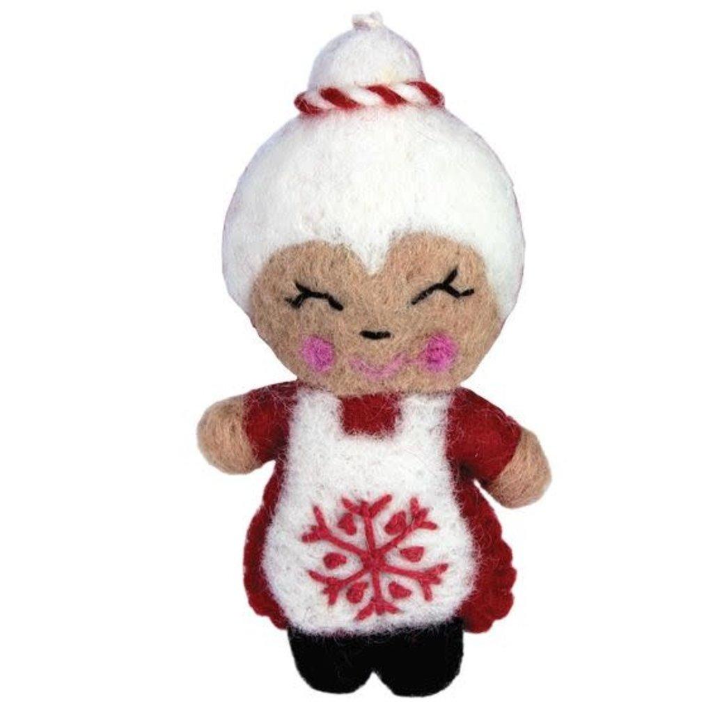DZI Handmade Mrs. Claus Snowflake Ornament