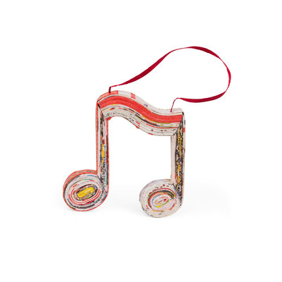 Ten Thousand Villages Music Notes Paper Ornament