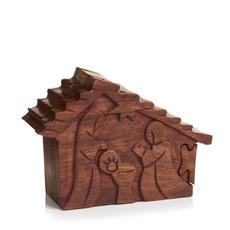 Serrv Nativity Shesham Wood Puzzle Box