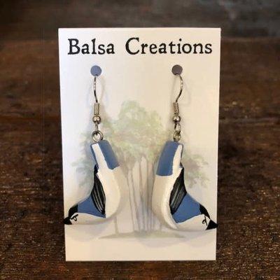 Women of the Cloud Forest Nuthatch Balsa Earrings