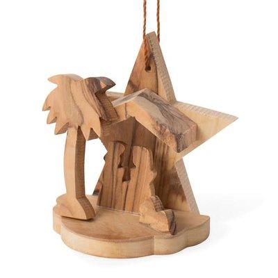 Ten Thousand Villages Olive Wood Nativity Ornament