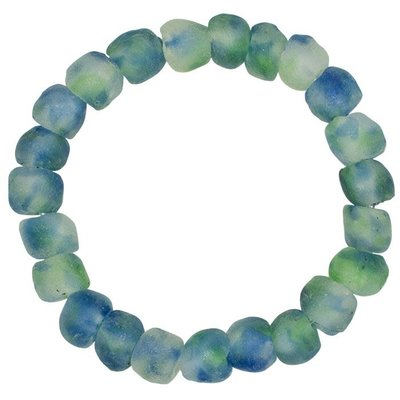 Global Mamas Open Seas Blue Recycled Glass Bracelet