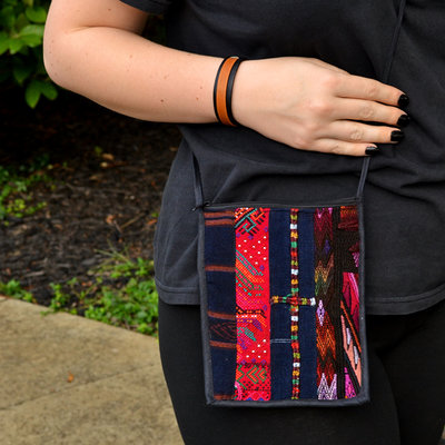Lucia's Imports Patch Passport Bag