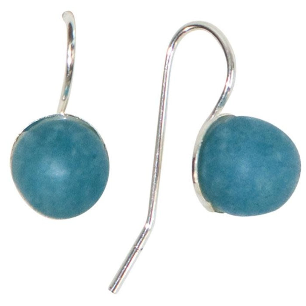 Global Mamas Pearl Drop Recycled Glass Earrings - Blue