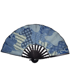 Serrv Blue Batik Fan